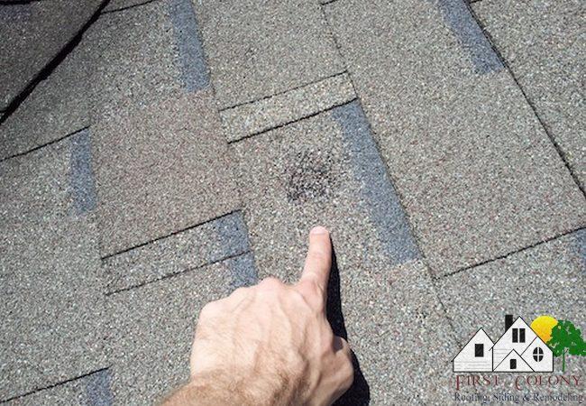 Hail damage roofs